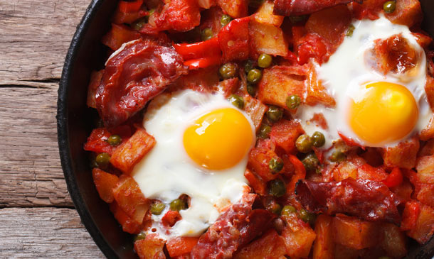 Cocina regional: huevos a la flamenca, paso a paso