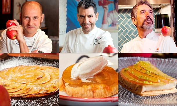 Tres grandes chefs, tres recetas irresistibles, y un homenaje a un postre mítico: la tarta de manzana