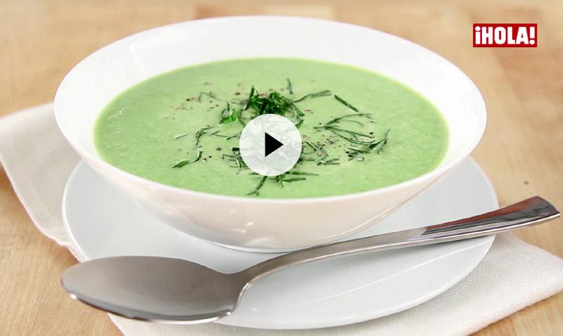 Vídeo-recetas en un minuto: Crema de guisantes, un plato fácil, sabroso, ¡y de temporada!
