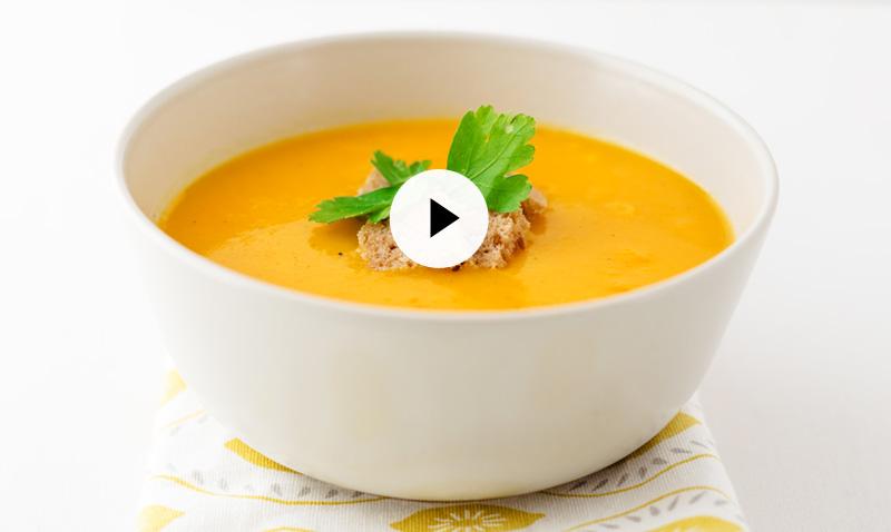 Vídeo-recetas: Fácil, sana y deliciosa, así es esta crema de calabaza