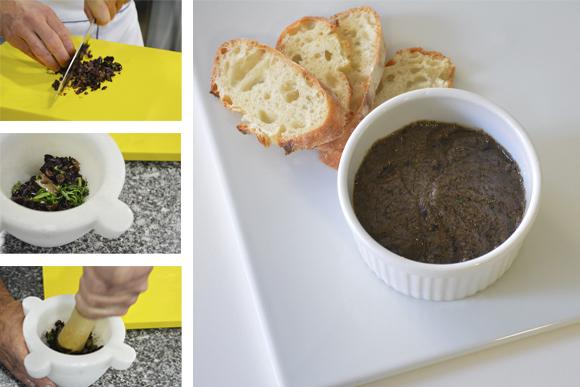 Aprende a preparar tapenade (paté de aceituna)