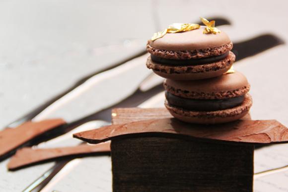 'Macaron' de chocolate