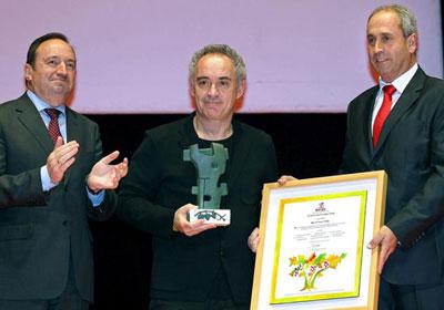 Ferran Adrià, galardonado con el premio 'Prestigio Rioja'
