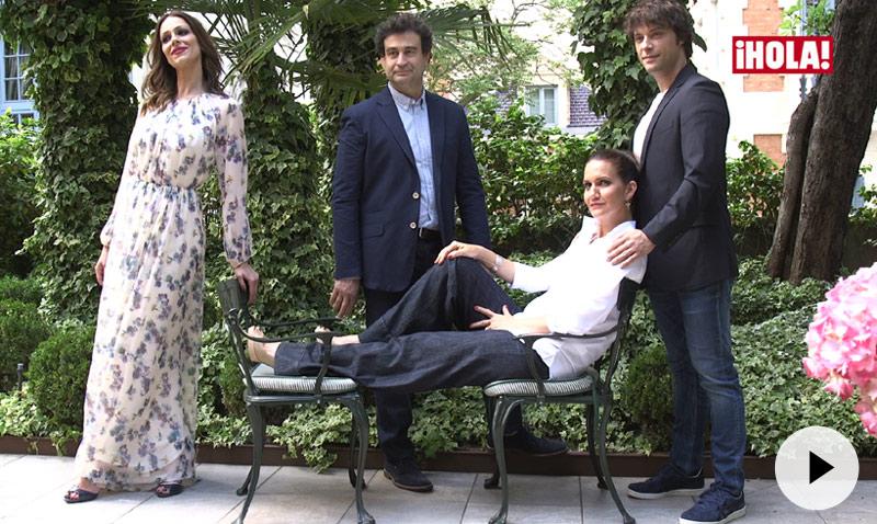 Pepe, Eva, Samantha y Jordi: la sesión de fotos más 'glamourosa'
