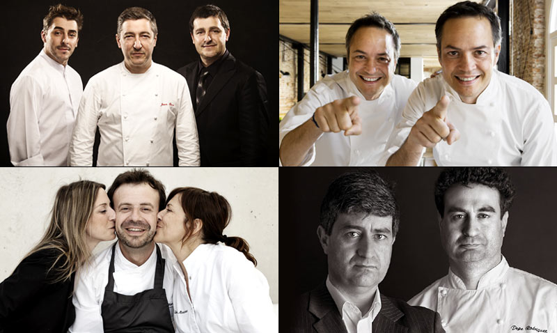 Hermanos con estrella (Michelin): Roca, Torres, Manzano, Rodríguez Rey... ¿Los conoces?