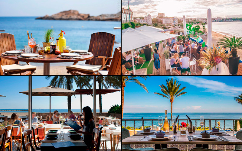 Terrazas en azul marino: comer y cenar con vistas al mar
