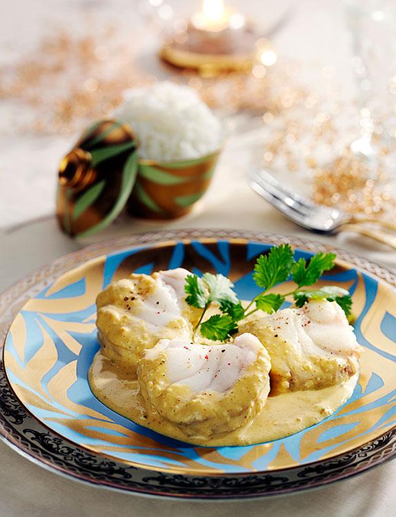 Receta pescado al curry