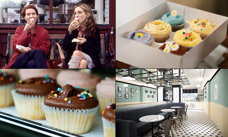 Los 'cupcakes' favoritos de Carrie Bradshaw aterrizan en