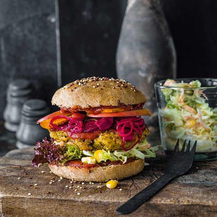 Hamburguesas vegetarianas: ligeras, sorprendentes y muy nutritivas