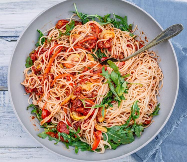Espaguetis-rucula
