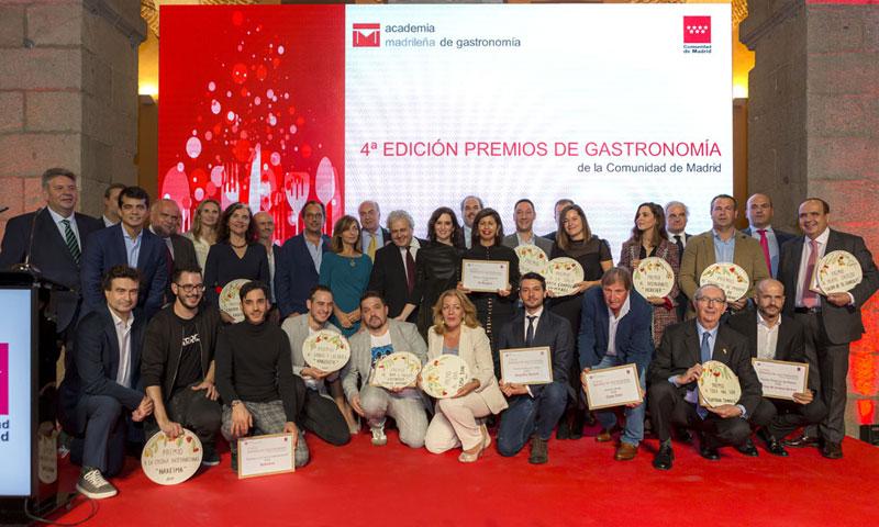 Estos son los premiados por la Academia Madrileña de Gastronomía