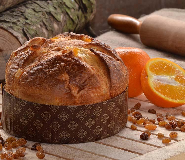 Panettone de naranja y miel