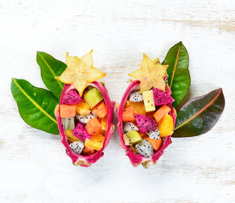 Macedonia de frutas tropicales
