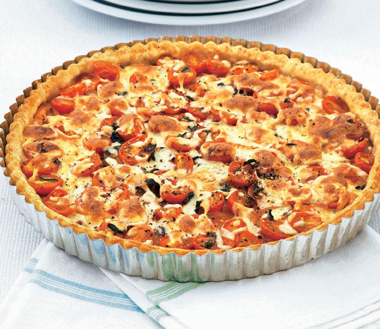 Quiche de tomate, mozarella, Idiazábal y romero