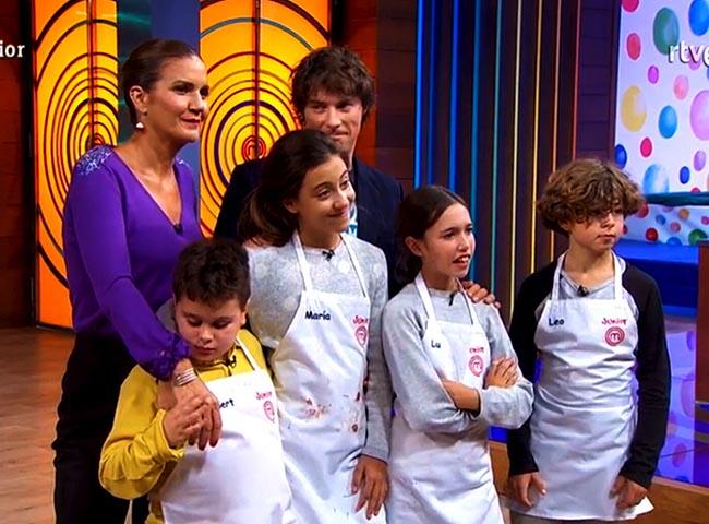 Albert, María, Lu, Leo, Jordi Cruz y Samantha Vallejo-Nágera