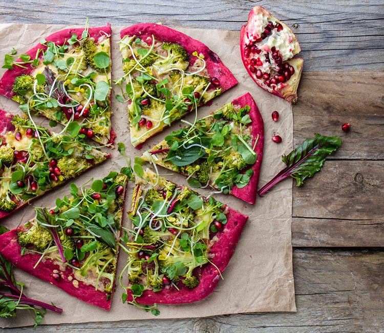 pizza-con-base-de-remolacha