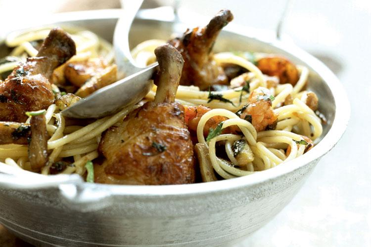 pollo-espaguetis