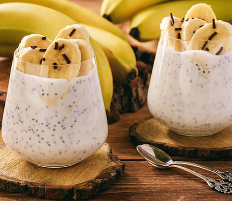 Pudin de plátano y chía