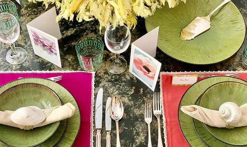 'El arte de decorar la mesa' por Fiona Ferrer: yo me quedo en casa ¿y tú?
