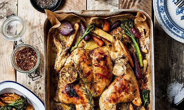 10 recetas deliciosas de pollo al horno y 5 guarniciones y postres (para hacer al mismo tiempo)