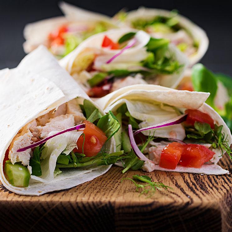 Enróllate con estas recetas de 'wraps', burritos, tacos y crepes