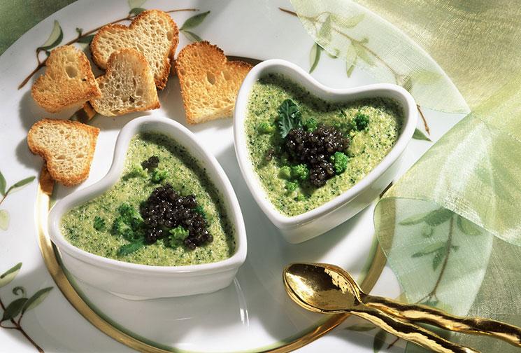 Flan de brócoli y kale al microondas