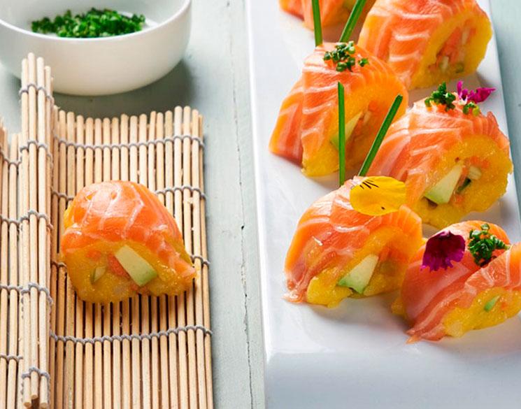 Maki-causa con salmón fresco