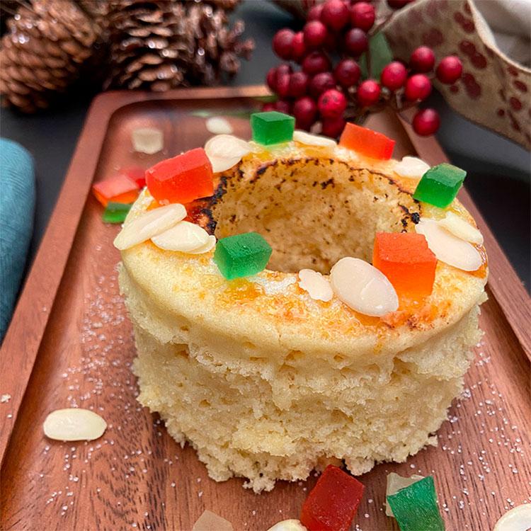 Mug cake de roscón de Reyes