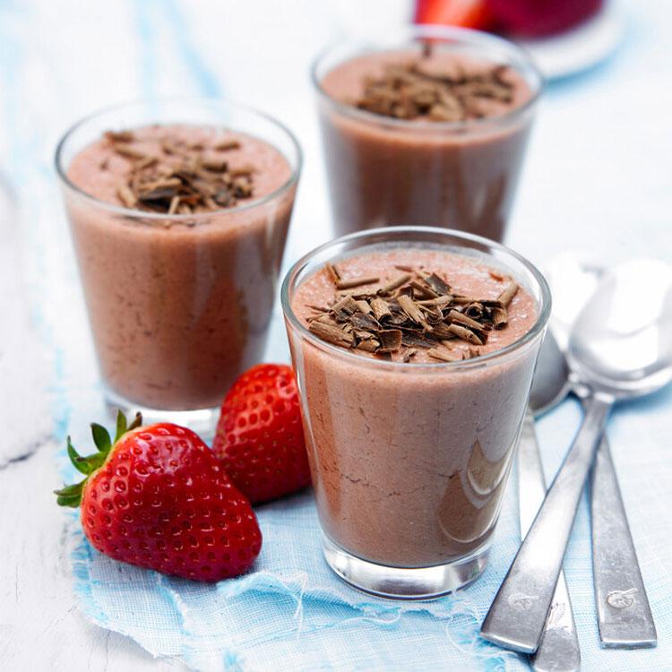 Batido de chocolate y fresa