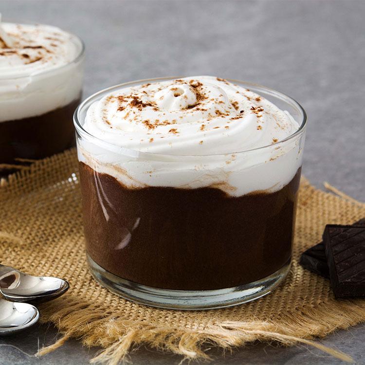 Mousse de chocolate negro y café