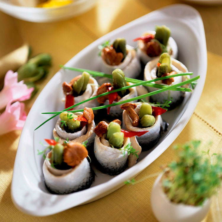 Delicias de sardinas marinadas y rellenas