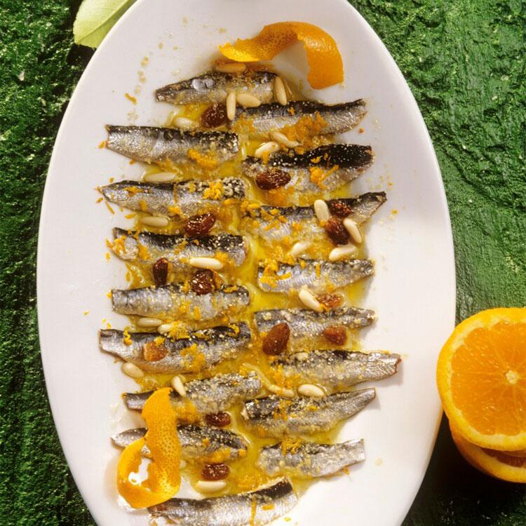 Sardinas con naranja