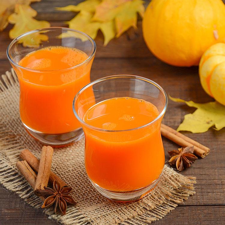 Zumo de calabaza y naranja con jengibre