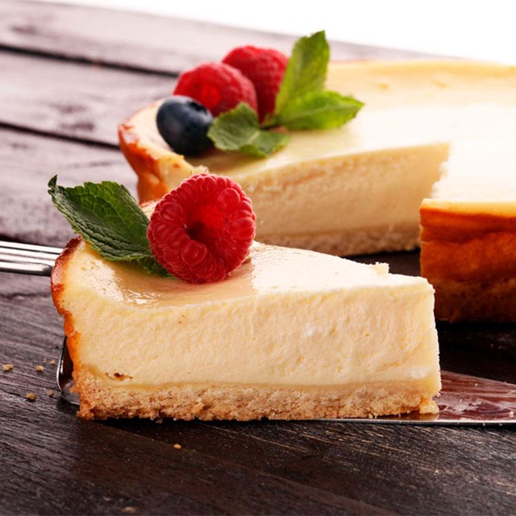 Tarta de queso con base de galleta