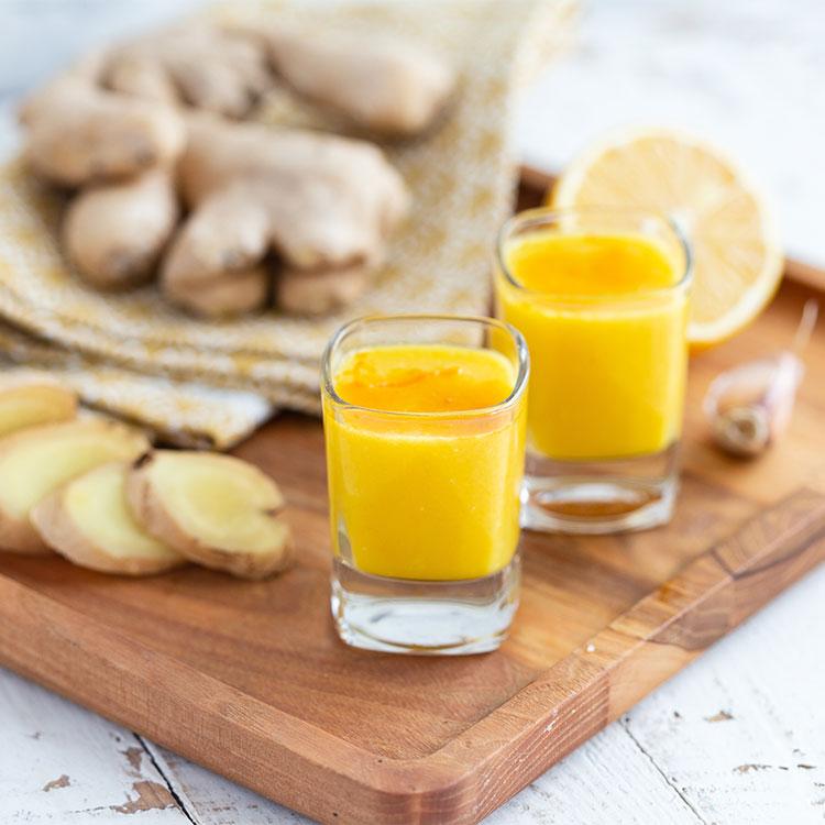 Shot de limón y jengibre