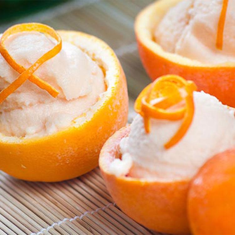 Naranjas con queso