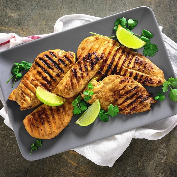 Pechugas de pollo marinadas con miso