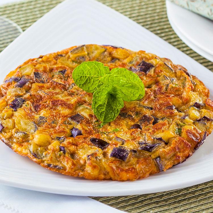 Tortilla de berenjena y patata