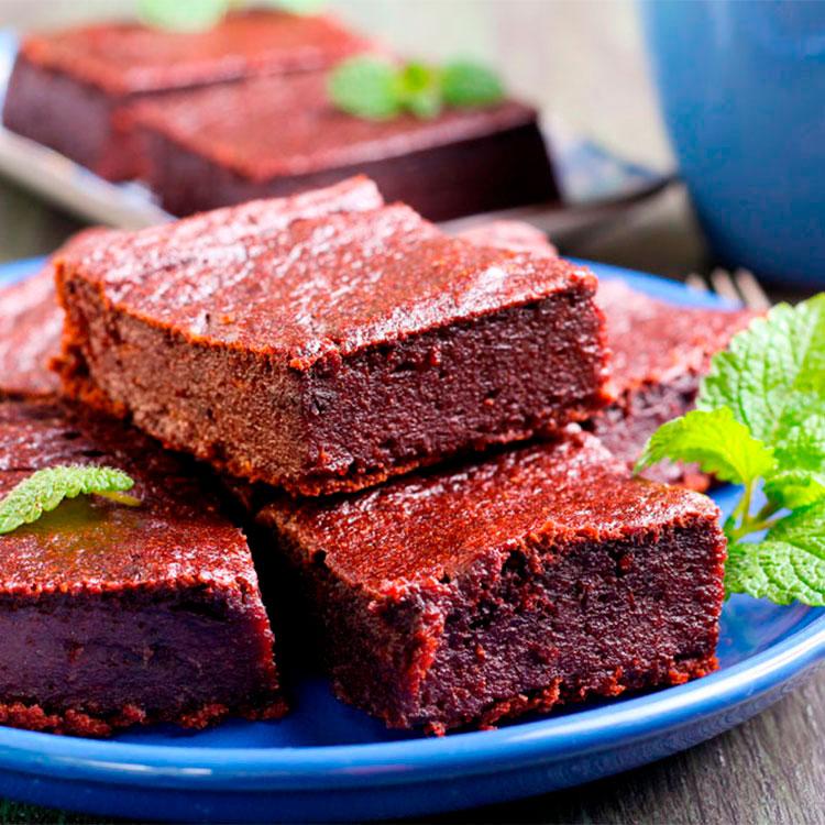 Brownie vegano de calabaza