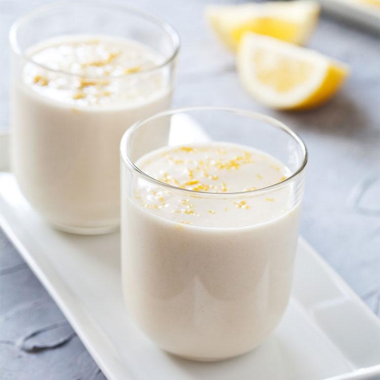 Panacotta de yogur y limón