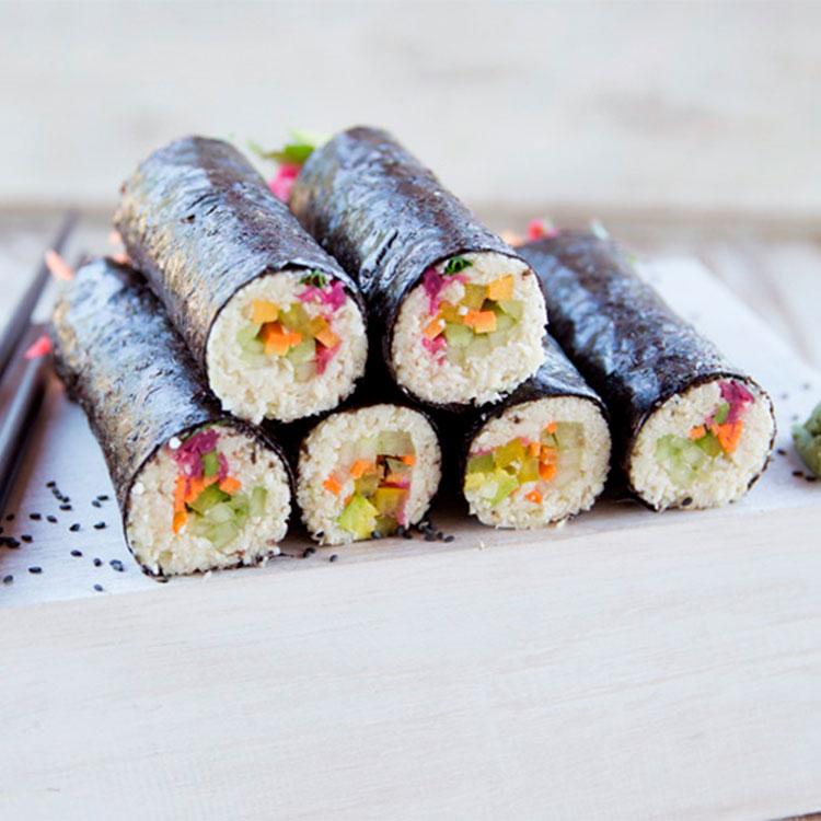 Maki-sushi vegano