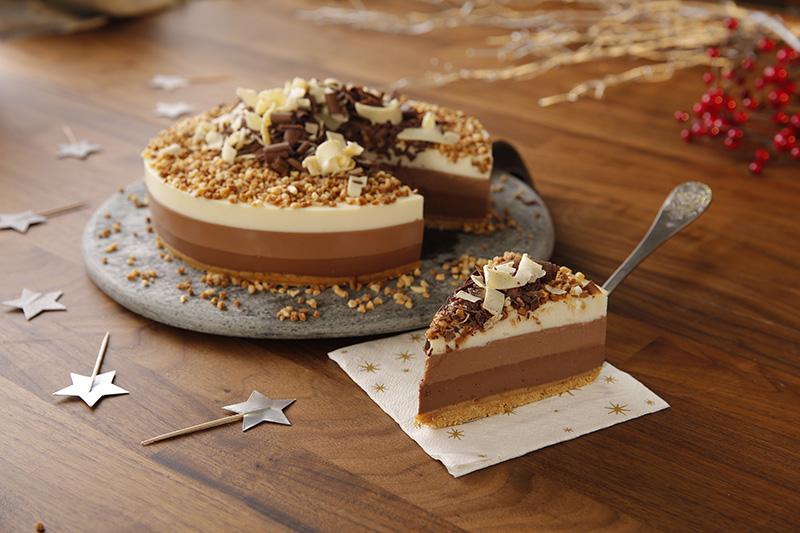 Postres de Navidad Nestlé Cocina: Tarta de tres chocolates