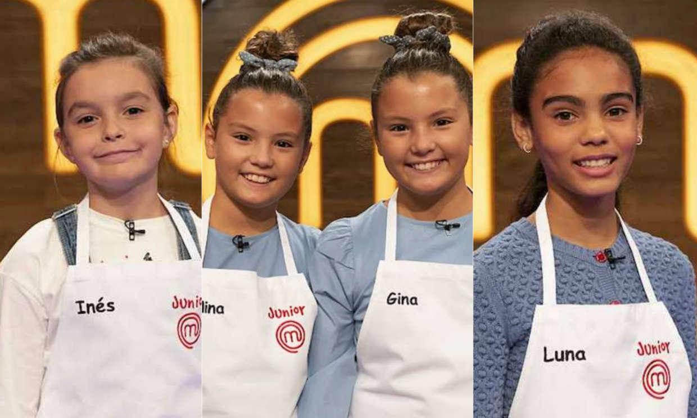 Inés, Luna y Nina y Gina, expulsadas de 'MasterChef Junior'
