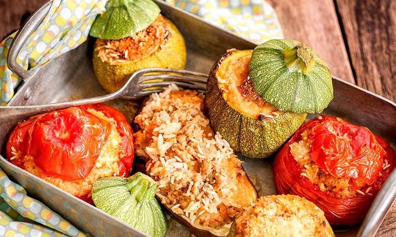 Verduras rellenas: pimientos, berenjenas, alcachofas, calabacines… ¡dales un aire diferente!