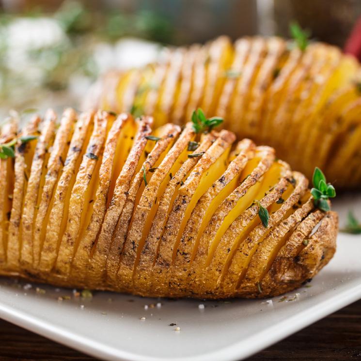 Si aún no conoces las patatas Hasselback... ¡te van a encantar!