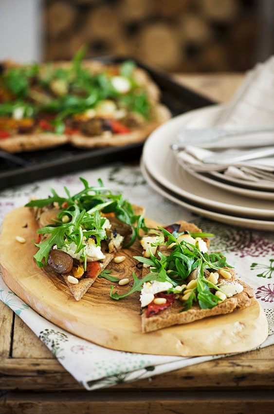 pizza-sana-rucula-tomate