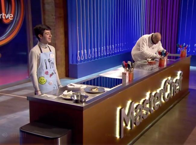 José María mientras cocinaba en el casting