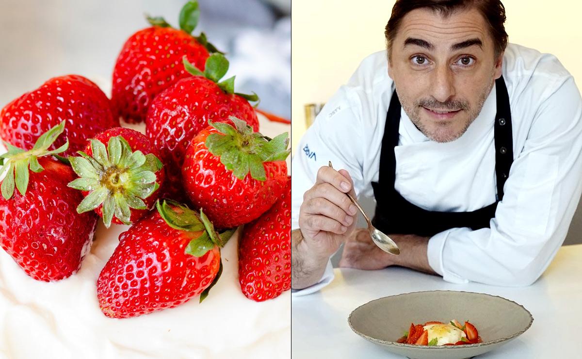 Fresas con nata: la alucinante versión de Jordi Roca (que tú también puedes hacer en casa)