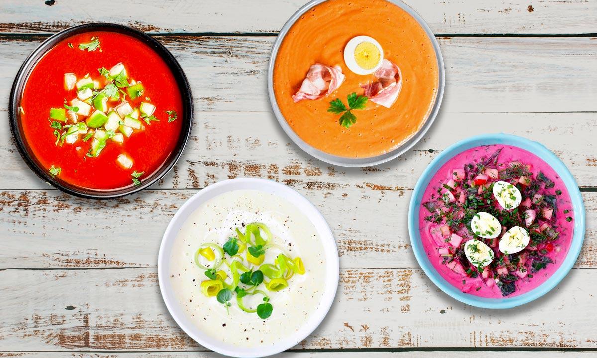 10 sopas frías sanas, fáciles, rápidas y llenas de color