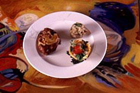 Solomillo a la broch con hígado de pato y su nido de patata